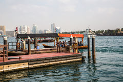 DUBAI, UAE-JANUARY 18: Traditional Abra ferries on January 18, 2 Stock Photography