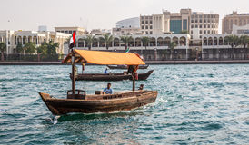 DUBAI, UAE-JANUARY 18: Traditional Abra ferries on January 18, 2 Stock Images