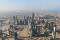 Aerial view of Downtown Dubai Stock Image