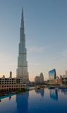 DUBAI, UAE - JANUARY 2: Burj Khalifa on January 2, 2012 in Dubai Stock Image