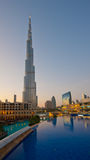 DUBAI, UAE - JANUARY 2: Burj Khalifa on January 2, 2012 in Dubai Stock Photography