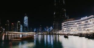 DUBAI,UAE - jANUARY 02,2019: Burj Khalifa skyscraper in the night,Dubai.Burj Khalifa is the tallest skyscraper in the world stock photography