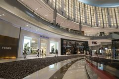 DUBAI,UAE - jANUARY 06,2018:  inside the Dubai Mall. The Dubai M Royalty Free Stock Photography