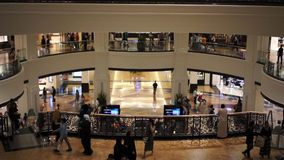 DUBAI, UAE. January 19, 2018. Mall of the Emirates. Shoppnig in the one of the biggest malls at the world. DUBAI, UAE. January 19, 2018. Mall of the Emirates stock footage