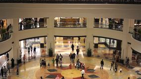 DUBAI, UAE. January 19, 2018. Mall of the Emirates. Shoppnig in the one of the biggest malls at the world. DUBAI, UAE. January 19, 2018. Mall of the Emirates stock video footage