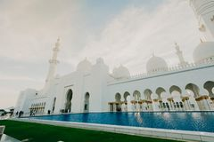 DUBAI, UAE - January 06,2019: Sheikh Zayed Grand Mosque, Abu Dhabi. The 3rd largest mosque in the world, area is 22,412 square stock photos