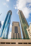 DUBAI, UAE-JANUARY 16: Skyscrapers in the city center on January Royalty Free Stock Photo