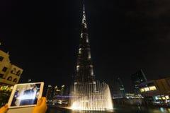 DUBAI, UAE-JANUARY 16: Skyscrapers in the city center on January Stock Photos