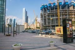 DUBAI, UAE-JANUARY 16: Skyscrapers in the city center on January Royalty Free Stock Image