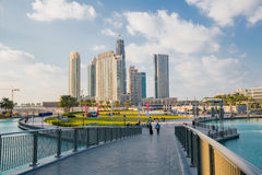 DUBAI, UAE-JANUARY 16: Skyscrapers in the city center on January Royalty Free Stock Images