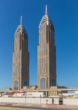 DUBAI UAE-JANUARY 15: Stadsgator Januari 15, 2014 i Dubai, U Arkivbild