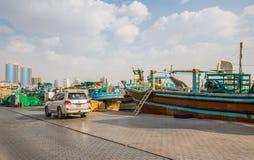 DUBAI, UAE-JANUARY 18: Traditional Abra ferries on January 18, 2 Stock Photo