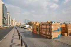 DUBAI, UAE-JANUARY 18: Traditional Abra ferries on January 18, 2 Stock Photography