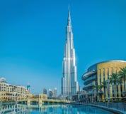 DUBAI UAE - JULI 20: Burj Khalifa på Juli 20, 2015 i Dubai, UA Royaltyfria Foton
