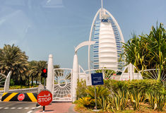 DUBAI, UAE - JULY 2008: The grand sail shaped Burj al Arab Hotel Royalty Free Stock Photos