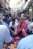 Dubai, UAE - July 16, 2016: Muslims gathering for a communal Royalty Free Stock Image