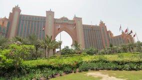 DUBAI, UAE - JUNE 13: Atlantis Hotel on the Palm Jumeirah, Dubai stock video footage