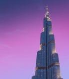 DUBAI UAE-JUNE 1: Burj Khalifa den högsta byggnaden arkivbild