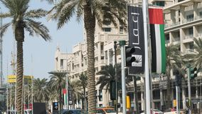 DUBAI, UAE - JUNE 23 2017: Streets and buildings of Dubai, the largest and most populous city in the United Arab. Emirates. Deira is an old commercial center of stock video