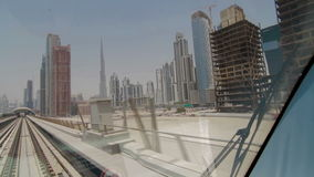 DUBAI, UAE - JUNE 2013: View from underground carriage stock video footage
