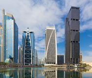 DUBAI, UAE - 22. MÄRZ 2017: Die Jumeirah Seetürme Lizenzfreies Stockfoto