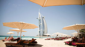 Dubai, UAE - 31. Mai 2013: Das Burj EL-Araberhotel Stockbild
