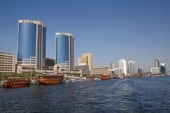 DUBAI, UAE - 14. MAI 2016: Dubai Creek Stockfotos
