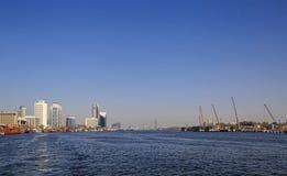 DUBAI, UAE - 14. MAI 2016: Dubai Creek Stockfotografie