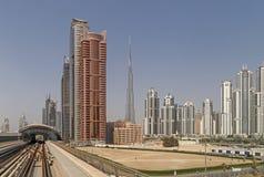 DUBAI, UAE - 11. MAI 2016: Im Stadtzentrum gelegener Bezirk Lizenzfreies Stockbild