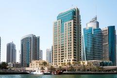 DUBAI, UAE - MAI 5,2017: Moderne Gebäude in Dubai-Jachthafen können an 5, 2017, Dubai, UAE Lizenzfreies Stockfoto