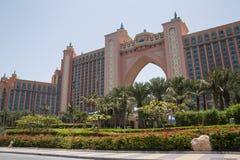 DUBAI UAE - MAJ 13, 2016: Atlantis hotell Royaltyfria Bilder