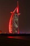 DUBAI UAE - MAJ 12, 2016: Burj Al Arab Arkivbilder