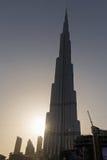 DUBAI UAE - MAJ 11, 2016: Burj Khalifa Arkivbild