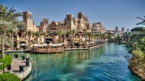 Dubai UAE - Maj 31, 2013: Jumeirah strandhotell, Dubai royaltyfri foto