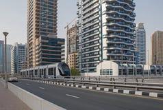 DUBAI UAE - MAJ 11, 2016: sikt av Dubai Royaltyfria Foton