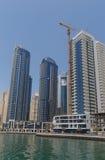 DUBAI UAE - MAJ 15, 2016: sikt av Dubai Arkivbilder