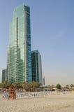 DUBAI UAE - MAJ 11, 2016: strand på hotellet Royaltyfria Bilder