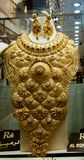 Massive gold jewelry for sale at a Gold Souk Stock Photos