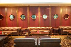 Emirates first class lounge Royalty Free Stock Photo