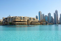 DUBAI UAE - MARS 24, 2016: I stadens centrum DUBAI Royaltyfria Bilder