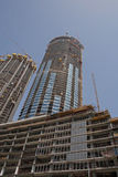 DUBAI, UAE - MAY 14, 2016: construction. Of tower in Dubai Stock Image
