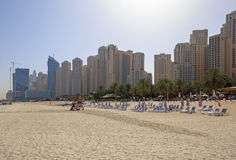 DUBAI, UAE - MAY 12, 2016: GBR beach Stock Image