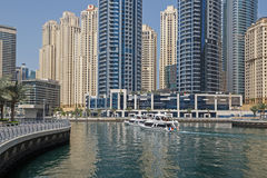 DUBAI, UAE - MAY 12, 2016: Marina district Stock Photo