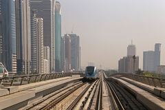 DUBAI, UAE - MAY 16, 2016: metro Stock Photo