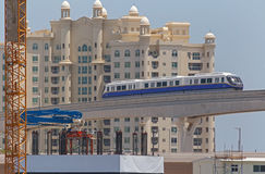 DUBAI, UAE - MAY 16, 2016: Palm Jumeirah Monorail. In Dubai Royalty Free Stock Photography