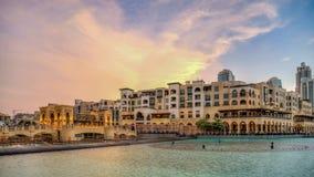 Dubai, UAE - May 31, 2013: Scenery from Jumeirah Beach Hotel stock image