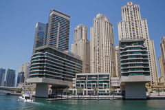 DUBAI, UAE - MAY 15, 2016: sight of district Marina. In Dubai Stock Image