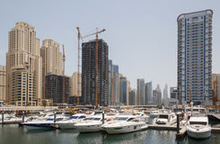 DUBAI, UAE - MAY 11, 2016: sight of Dubai Marina Stock Photo