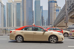 DUBAI, UAE - MAY 12, 2016: taxi Stock Image