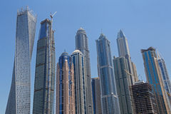 DUBAI, UAE - MAY 15, 2016: towers of district Marina. In Dubai Royalty Free Stock Image